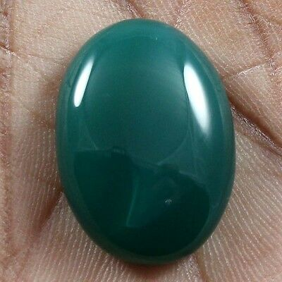 27.50 cts Natural Beautiful Green Onyx Cabochon Oval Loose Quality Gemstones
