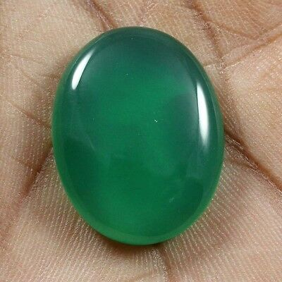 26.25 cts Natural Beautiful Green Onyx Cabochon Oval Loose Quality Gemstones