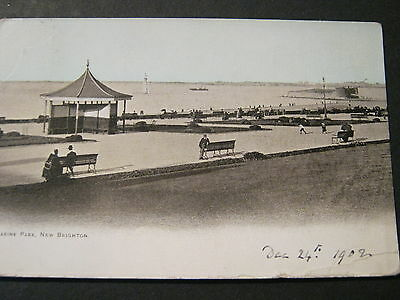 Postcard Very Early Card Of Marine Park New Brighton  Used 1902 Good Condition