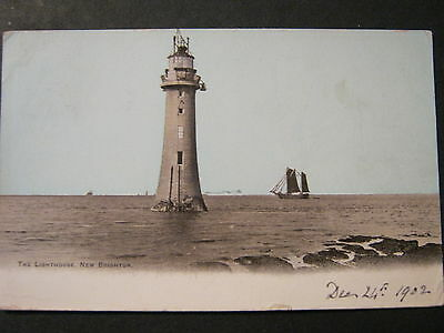 Postcard Very Early Card Of The Lighthouse New Brighton  Used 1902