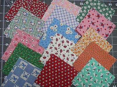 "50 4"" Pack, 1930's Repro Fabric - Judie Rothermel etc. (2)"