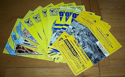 Oxford United - Mixed Seasons 12 Home Programmes