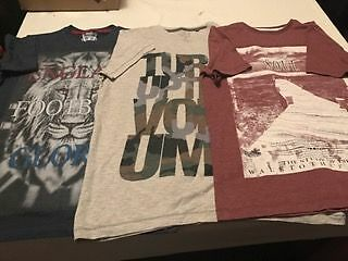 x3 boys short sleeved tops aged 11/12 years
