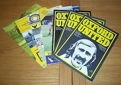 Oxford United - Mixed Seasons 7 Home Programmes