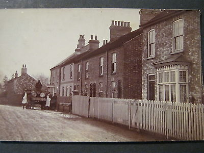 POSTCARD RP of HORSE & CART IN VILLAGE LANE  UNPOSTED   IN VERY GOOD CONDITION