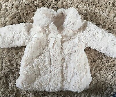 3-6 Month Baby Girl Faux Fur Winter Coat Jacket