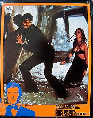 James Bond + 007 + Roger Moore + The Spy Who Loved Me + Barbara Bach + Ger + Lc