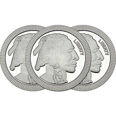 SilverTowne Buffalo Stackables 1oz .999 Silver Medallion (3pc)