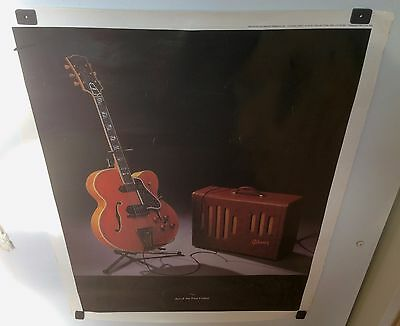 Gibson Super 400 Art Of The Fine Guitar Poster 1990