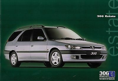1997 1218F Peugeot 306 ESTATE Part No MCP 0938  Brochure THE DRIVE OF YOUR LIFE