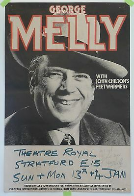 POSTER: GEORGE MELLY with John Clinton Feetwarmers (Theatre Royal, Stratford E)