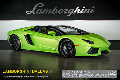 2014 Lamborghini Aventador LP700-4 Roadster Convertible 2-Door TRANSPARENT ENGINE+NAV+RR CAM+CARBON FIBER+POWER/HEAT SEATS+DIONE WHEELS