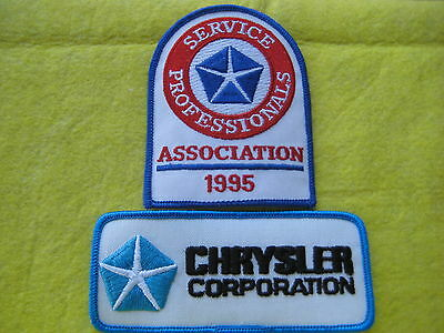 "Chrysler And Chrysler Service Professionals Patches 5""X2"" X3"" X 4"""