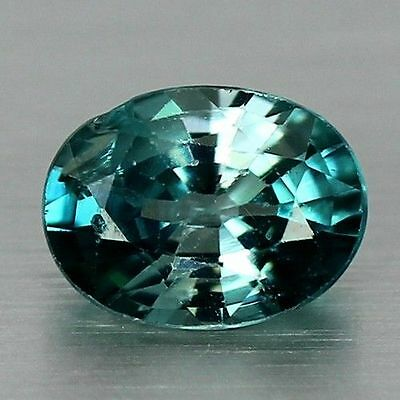 1.755 Cts Full Fire Natural Natural Earth Mine Neon Blue Zircon Loose Gemstone