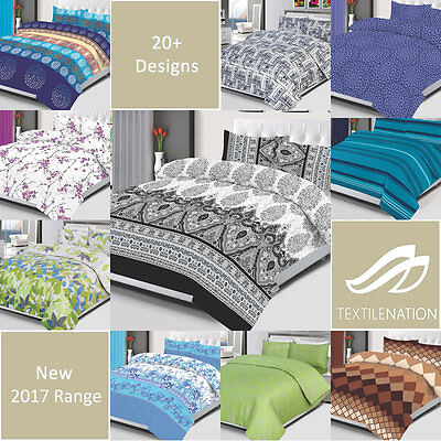 4 Piece Bedding Set Duvet Cover Bed Sheet Pillow Case Quilt Single Double King