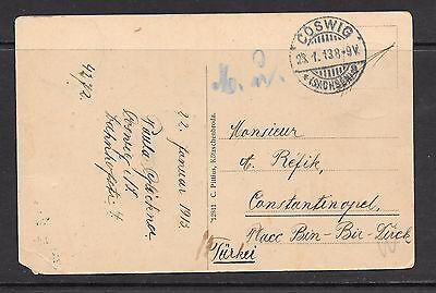 Germany  P/Card 1913 Posted to Turkey