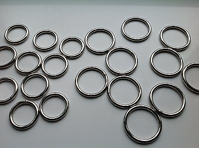 Quality Welded Metal O Rings 20mm or 25mm 38mm 50mm