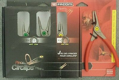 Facom 4 Piece Circlip Straight Pliers Set