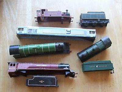 Assorted 00 gauge Loco and tender bodies mainly Hornby
