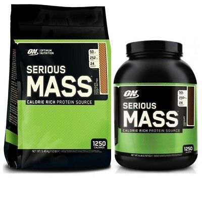 Optimum Nutrition Serious Mass Weight Gain Protein 2.7kg Or 5.4kg All Flavours