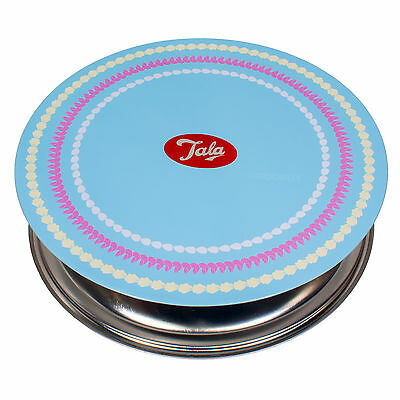Tala Vintage 1950's Cake Decorating Metal Icing Turntable Rotating Stand Plate