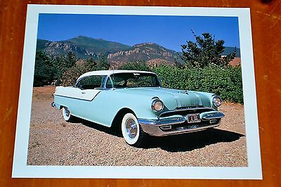 Large Photo 1955 Pontiac Catalina Coupe In Desert - American Classic Fifties