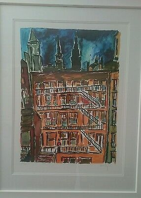 Bob dylan city scape limited edition drawn blank series signed print