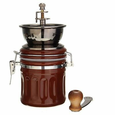 New Handmade Manual Coffee Bean Grinder Stainless Steel with Ceramic Core UK