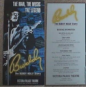 1987 The Buddy Holly Story Victoria Palace London Show Leaflet/Flyer