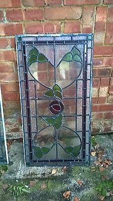stained leaded glass window handmade reclaimed vintage salvage more available