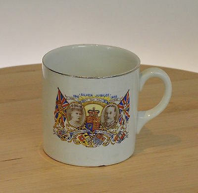 1910-1935 King George V & Queen Mary Silver Jubilee Palissy MUG