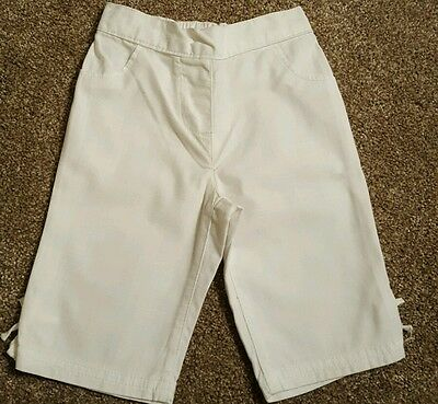 Next white girls trousers 9-12 months