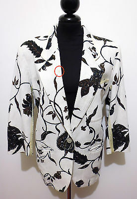 GFF GIANFRANCO FERRE' VINTAGE '80 Giacca Donna Lino Rayon Flax Woman Jacket
