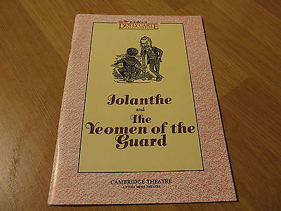 Gilbert & Sullivan 'Iolanthe & The Yeoman Of The Guard' Operas Theatre Programme