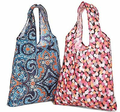 Vera Bradley  Packable Shopper Tote Bags  - 2 IN 1 Travel Pouch  NWT