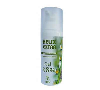 Helix Extra Gel 98% 60ml bava lumaca pura 100& made in italy acne rughe macchie