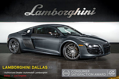 2009 Audi R8 Base Coupe 2-Door V10 ADDS+CARBON FIBER+ TUBI EXHST+R-TRONIC+NAV+PWR HEATED SEATS+PREMIUM