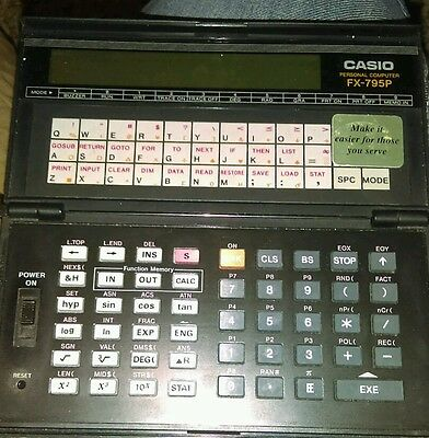 CASIO FX-795P Personal Computer Vintage Scientific Calculator
