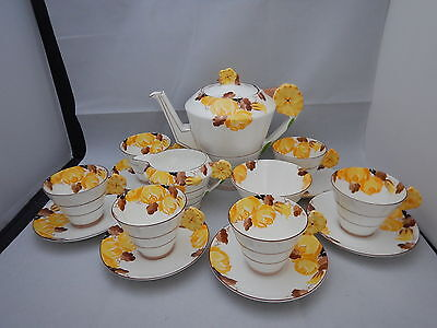 Art Deco Paragon China flower handle pattern 1359 Coffee set