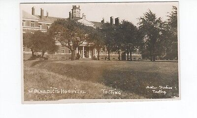 Postcard. St Benedicts Hospital Tooting. Real Photo.