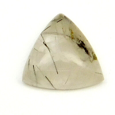 11.20 cts Natural Untreated Rutilated Quartz Gemstone Trillion Loose Cabochon