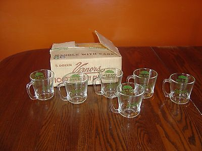 Vintage Vernor's Since 1866 6 Cups/mugs In Original Box Great Graphics Hot/cold