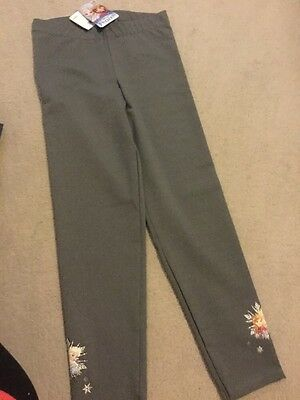 Girls Frozen Grey Leggings Age 9-10 Years