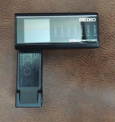 Seiko Stx5 Chromatic Guitar Tuner Adjustable Left Or Right Handed