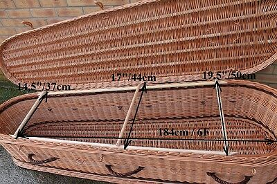 190 cm HANDMADE high-quality original NATURAL WICKER coffin for cremation (1)