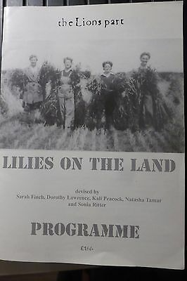 Lilies On The Land - Programme of the Womens Land Army play 2001