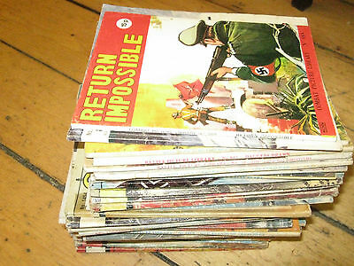 Lot / Collection Of Vintage War Library Comics Combat / Ww2 / Commando  34