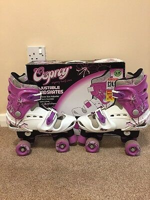 Osprey Adjustable Quad Wheeled Roller Skates - Size 3 - 5 Boxed