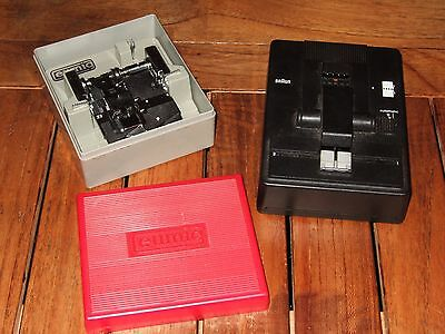 EUMIG SUPER 8MM FILM SPLICER case etc and BRAUN FK4 SPLICER. Both excellent.