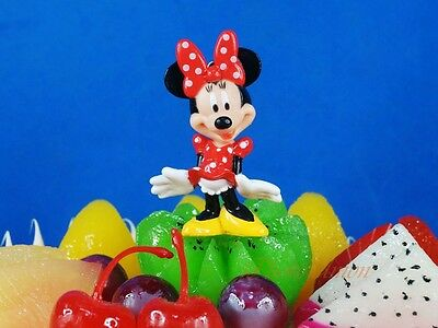 Cake Topper Decoration Disney Minnie Mouse Toy Figure Model Diorama K1216 A